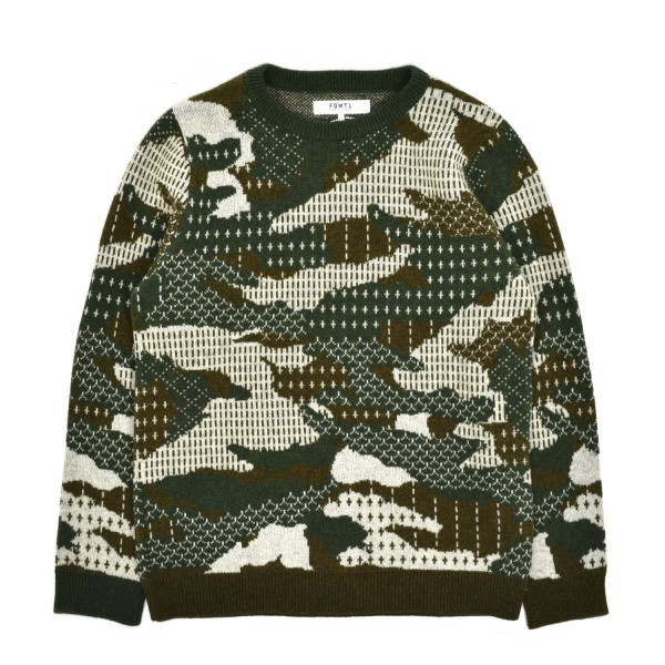 FDMTL Patchwork Wool Sweater