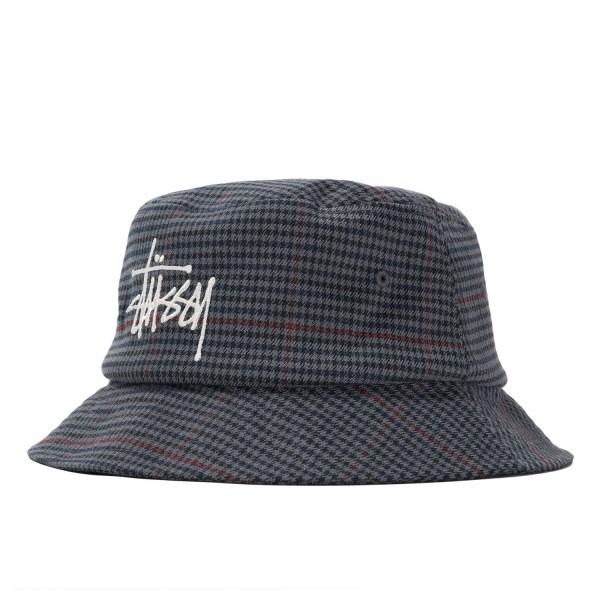 Stussy Big Logo Check Bucket Hat