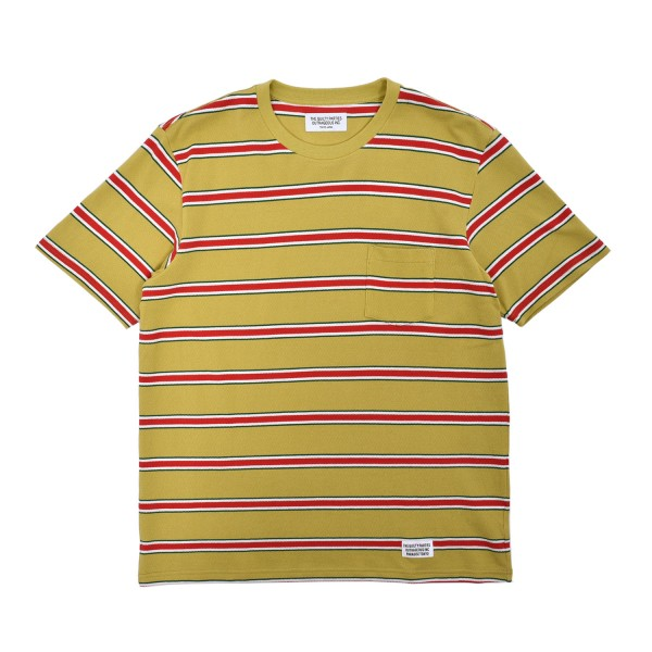 Wacko Maria Striped Crewneck T-Shirt Type-1