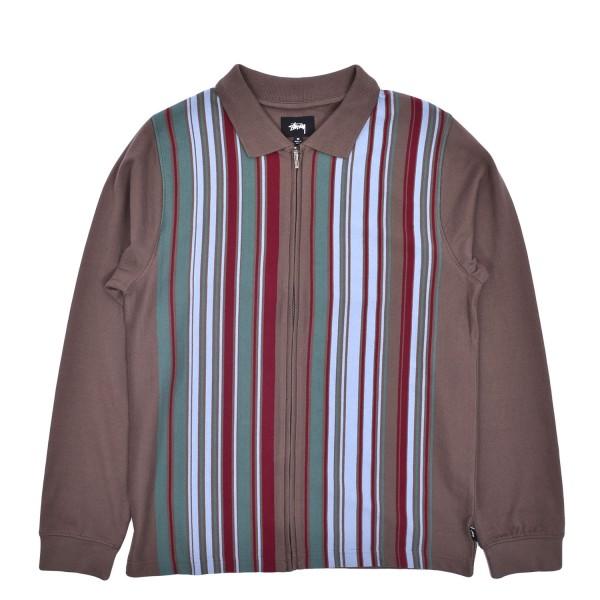 Stussy Simon LS Zip Polo Sweater