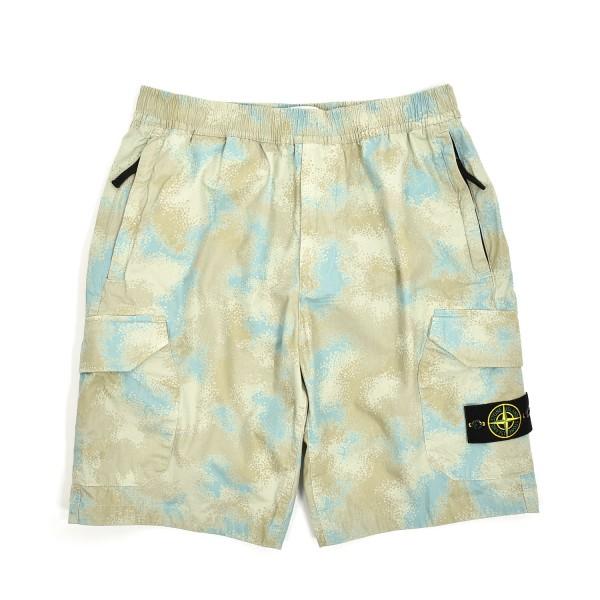 Stone Island Camo Devore Bermuda Shorts