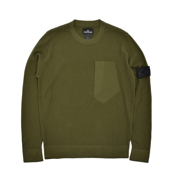 Stone Island Shadow Project Catch Pocket Knitted LS T-Shirt