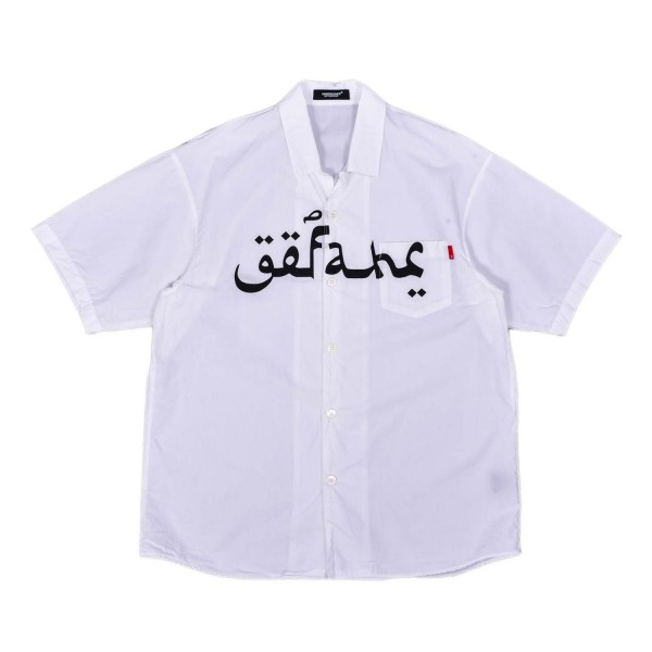 Undercover Arabic Print Vacation Shirt