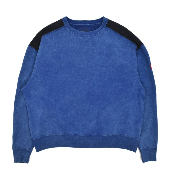 Cav Empt Overdye Panel Shoulder Crewneck Sweatshirt