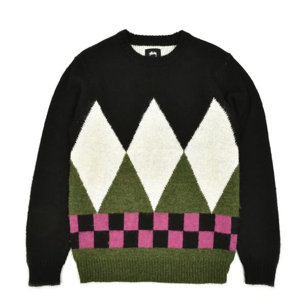 Stussy Diamond Check Mohair Sweater