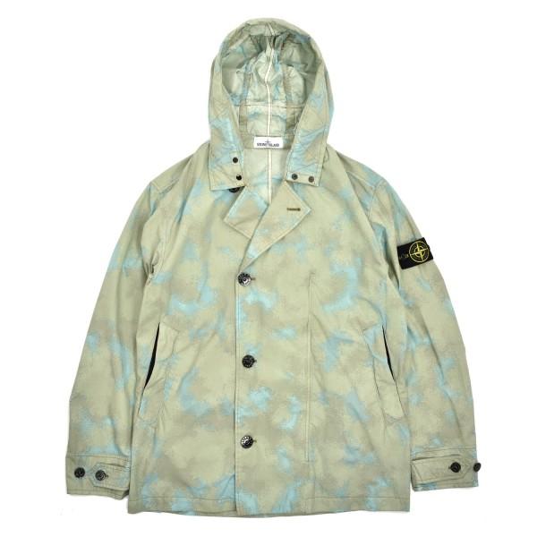 Stone Island Camo Devore Watro-TC Hooded Jacket