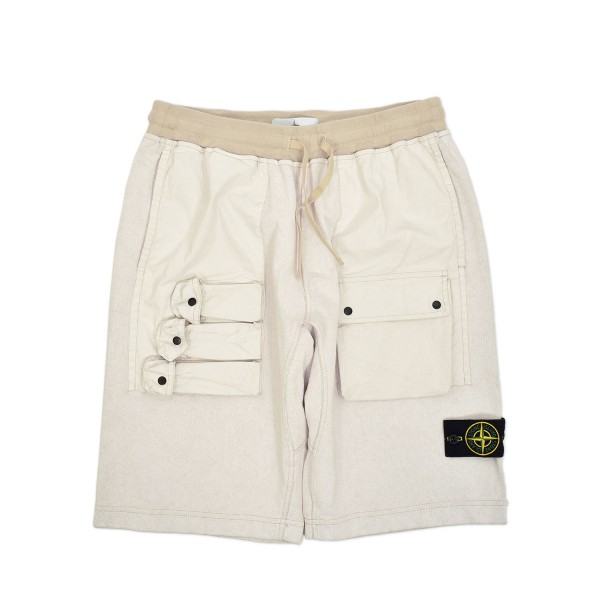 Stone Island Tela Placcata Fleece Shorts