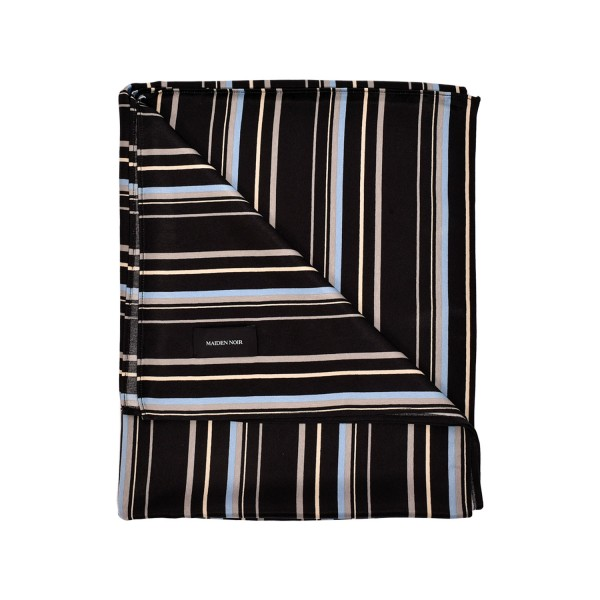 Maiden Noir Stripe Rayon Oversized Scarf