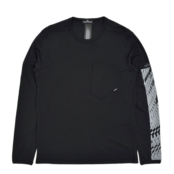 Stone Island Shadow Project Printed Catch Pocket Longsleeve T-Shirt