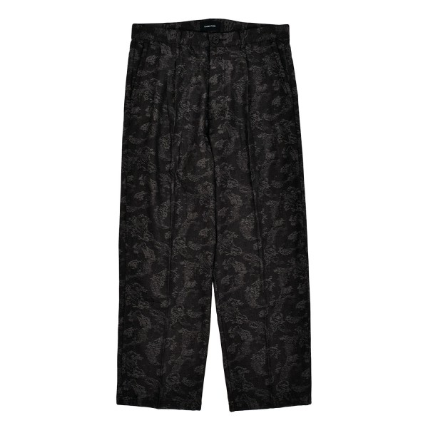 Maiden Noir Pleated Paisley Trousers