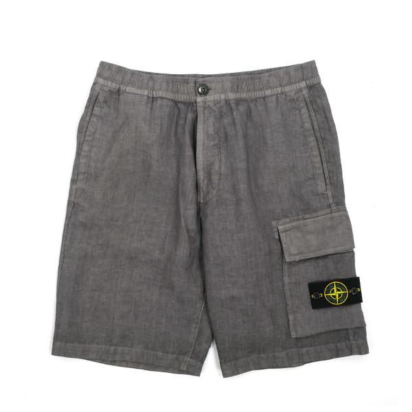 Stone Island Linen Stringthrough Bermuda Shorts