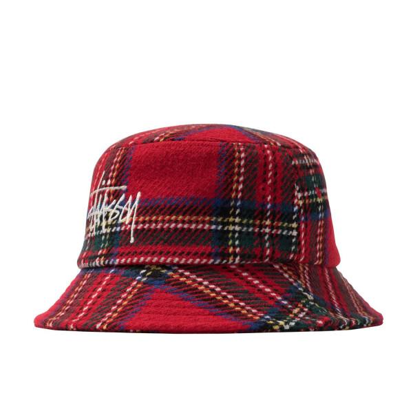 Stussy Big Logo Plaid Bucket Hat