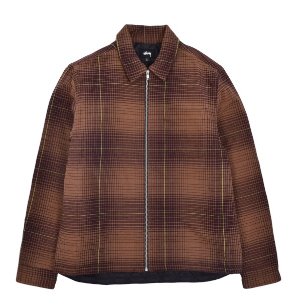 29767e81a6fe Stussy Zip Up Plaid LS Shirt