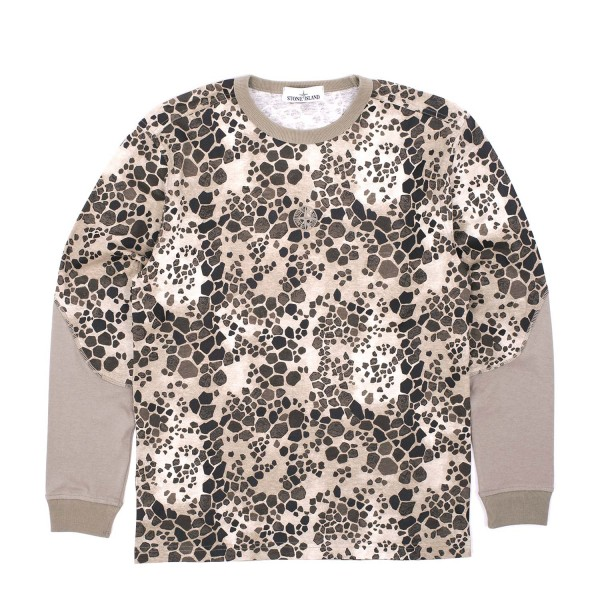 Stone Island Alligator Camo Longsleeve T-Shirt