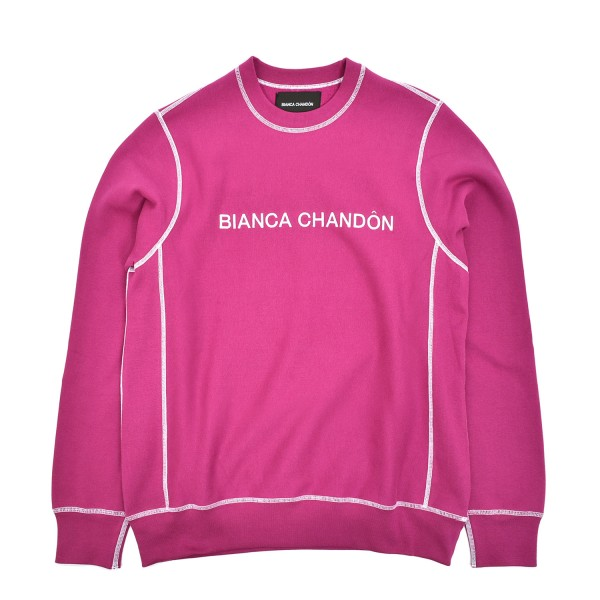 Bianca Chandon Contrast Stitch Logotype Crewneck Sweatshirt