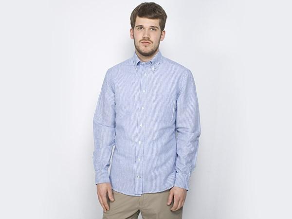 bd7ce00454 Gitman Vintage Linen Chambray Striped Shirt | FIRMAMENT - Berlin Renaissance