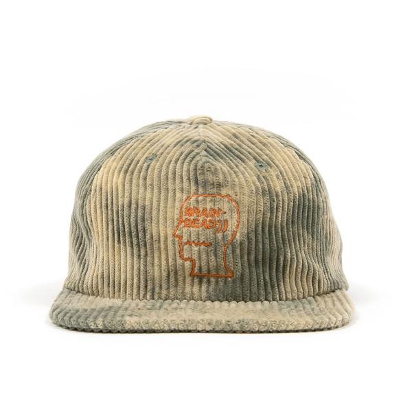 Brain Dead Bleached Cord Logo Head Cap