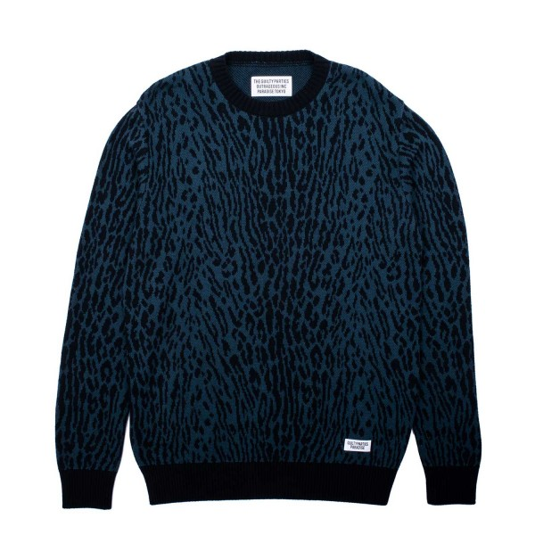 Wacko Maria Leopard Jacquard Sweater