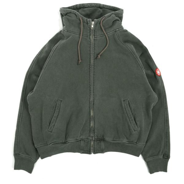Cav Empt Overdye Zip Big Heavy Hooded Sweatshirt