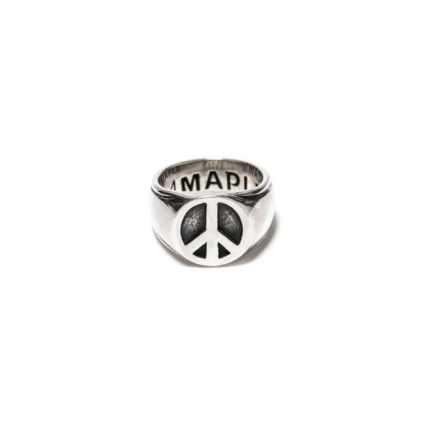 Maple Peace Silver Ring