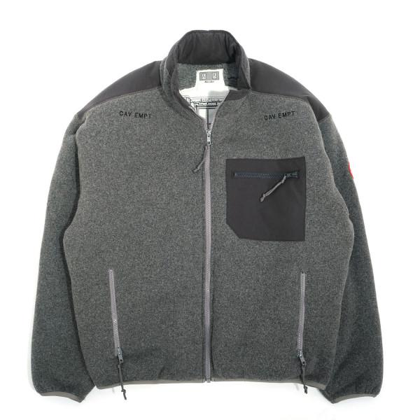 Cav Empt Furry Back Fleece Zip Up Jacket