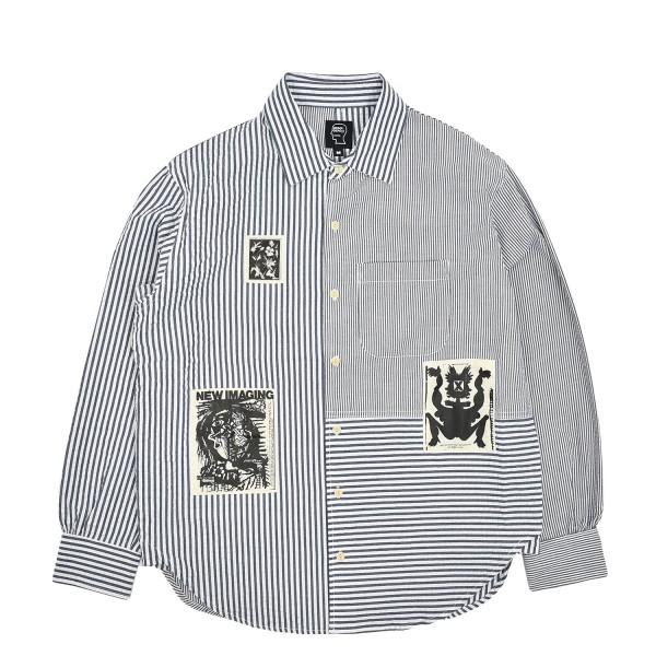 Brain Dead Panelled Button Up Shirt