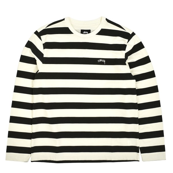 Stussy Printed Stripe Longsleeve Crewneck T-Shirt