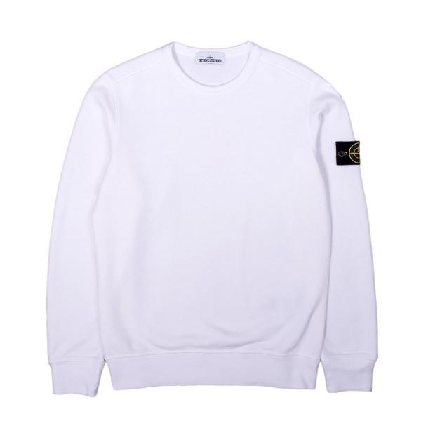 Stone Island Brushed Cotton Crewneck Sweatshirt