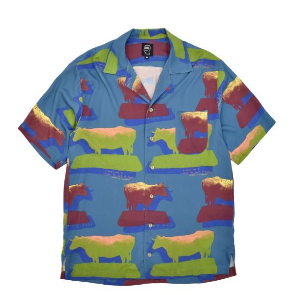 Brain Dead Cow Print Button Down Shirt