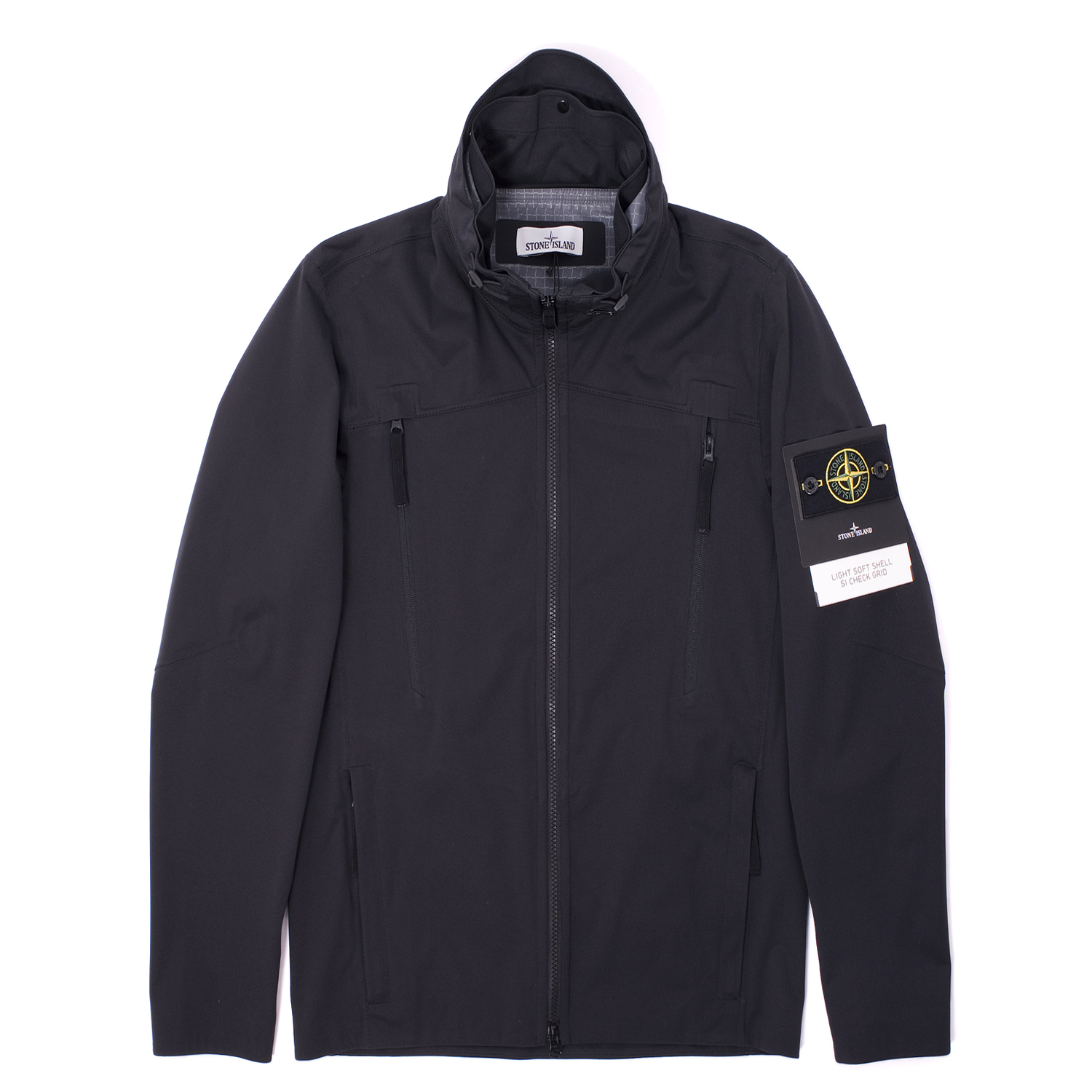 Stone Island Light Soft Shell Si Check Grid Jacket