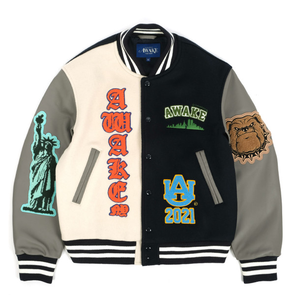 Awake NY Chenille Patches Varsity Jacket
