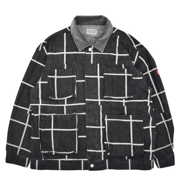Cav Empt Grid Black Denim Jacket