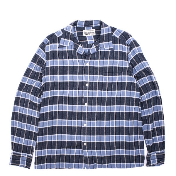 Wacko Maria Ombray Check Open Collar Shirt