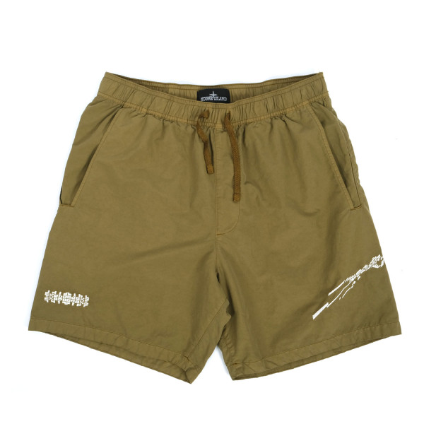 Stone Island Shadow Project Embroidered Swim Shorts